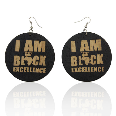 I am Black Excellence - Afrikaanse oorbellen