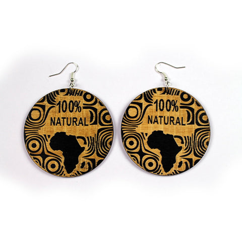 Africa inspired earrings | wood & black 100% natural