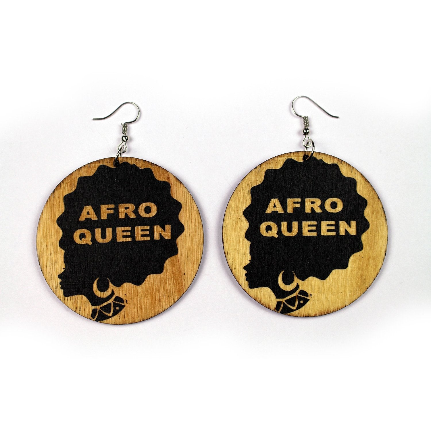 African ethnic earrings wood | Afro Queen