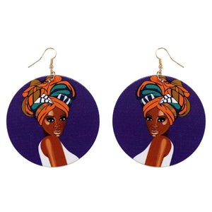 Africa inspired wooden earrings | African headband
