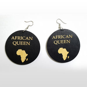 African black wooden earrings  | AFRICAN QUEEN