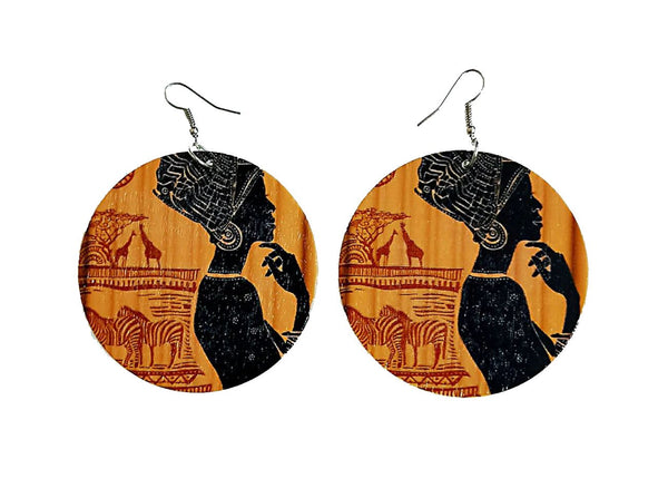 Africa inspired earrings | Ancient Africa Woman