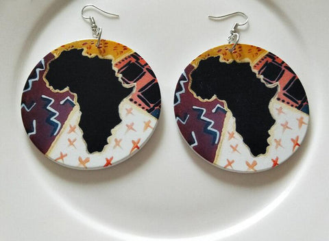 Africa inspired earrings | African Artwork