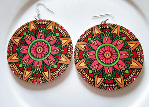 Africa inspired earrings | African Flower