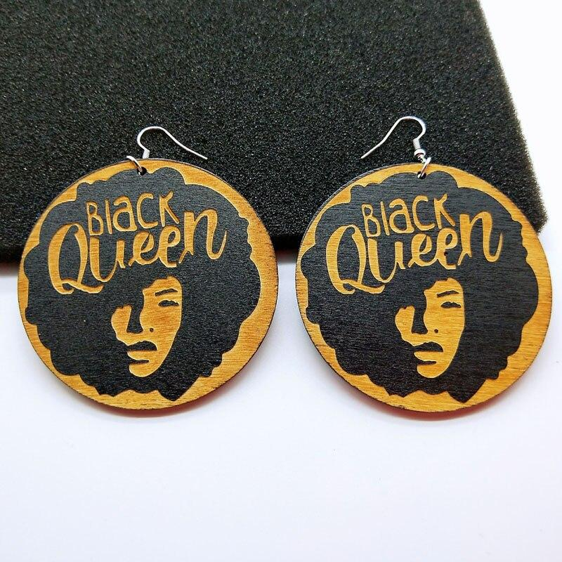 Africa inspired earrings | Black Queen