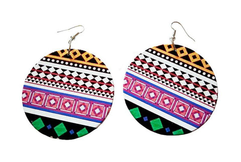 Africa inspired earrings | Pink tribal