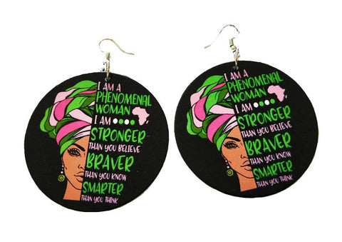 Africa inspired earrings | Stronger, Braver, Smarter