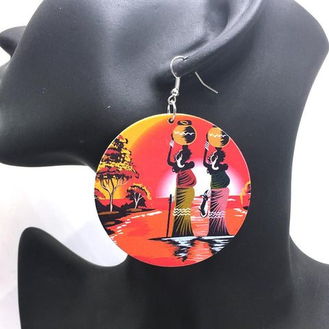 Africa inspired earrings | River sunset