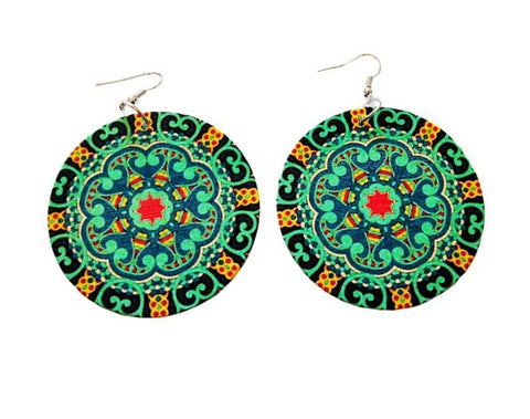 Wooden earrings | Ancient Disk