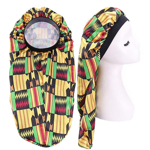 Satin Bonnet voor Dreadlocks / Braids / Rasta - Kente print Dreadsock / Satijnen Slaapmuts / Hair Bonnet