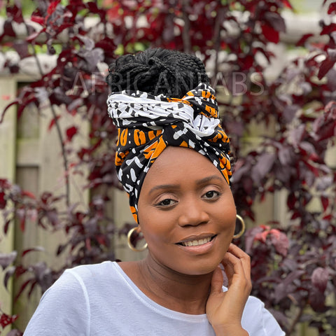 Afrikaanse hoofddoek / headwrap - Dream catcher