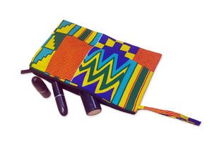 African print Makeup pouch / Pencil case - Kente style 1