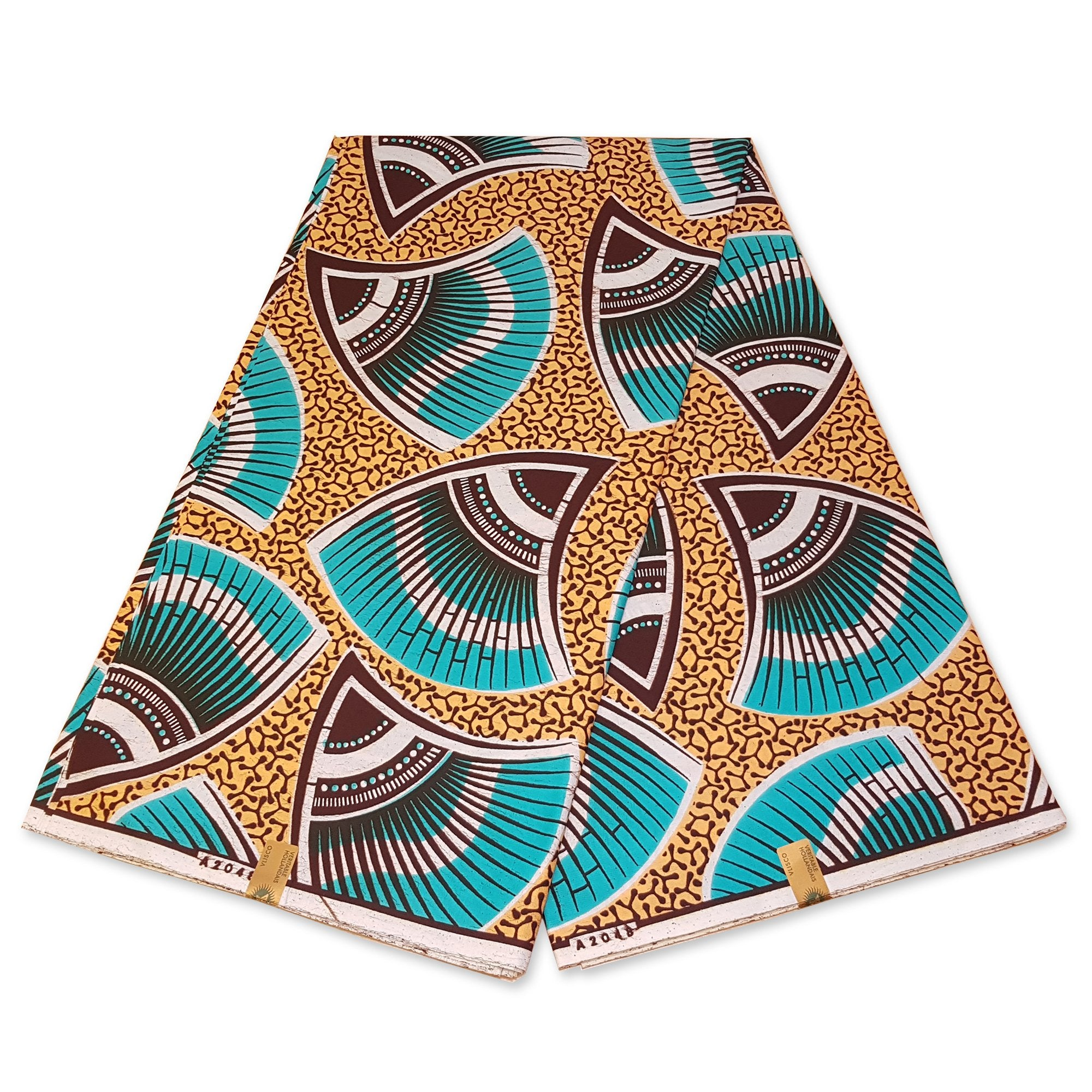 VLISCO Hollandais Wax print fabric - GREEN SHELL