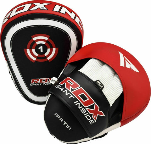 2Pcs AZ Curved Punch Mitts Focus Pads Boxing Equipment MMA Gear 1477