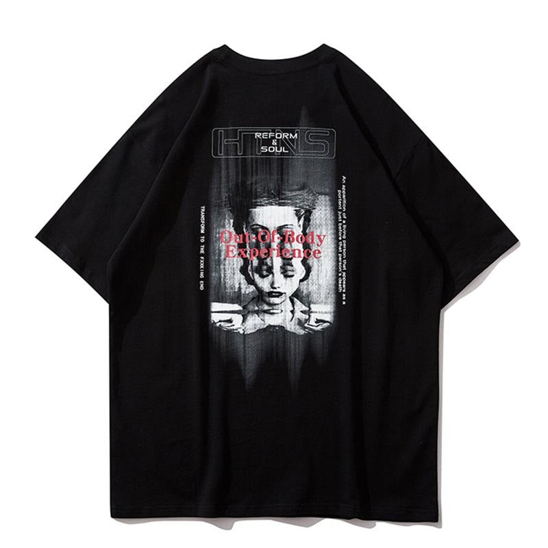 UNSETTLE Harajuku T-shirts Summer Men/Women Hip Hop Gothic Print tshirt Fashion Streetwear t shirt Oversize Short Sleeve Tee Top - Tekocloth