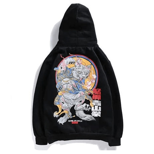 Hoodie Cat Animals - Tekocloth