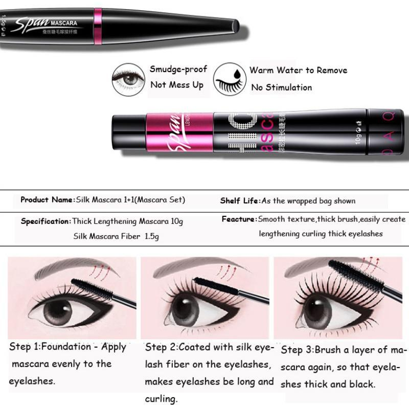SILK FIBER EYELASH MASCARA SET