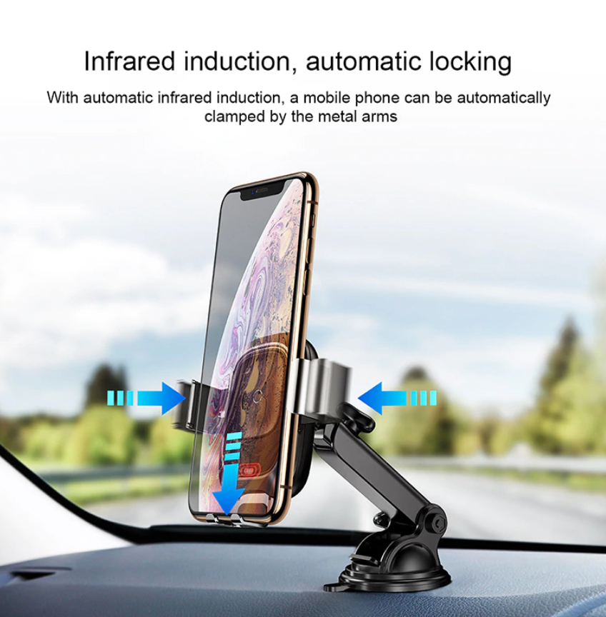 Wireless, Intelligent, Infrared & FAST Car Charger and Holder