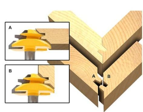 45 Degree Woodworking Tenon Cutter
