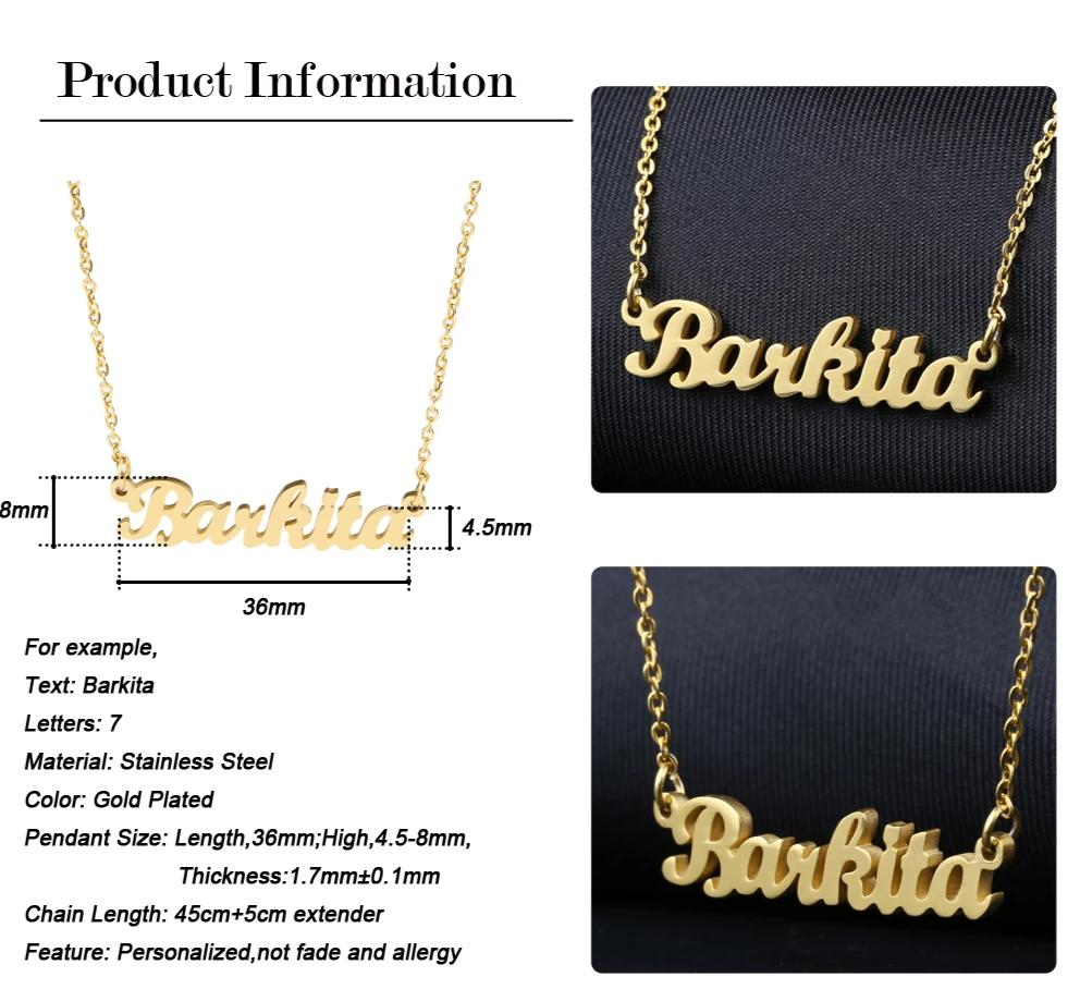 Gold Plated Personalised Name Necklace