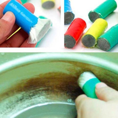 2 Pcs Magic Stainless Steel Cleaning Brush Stick Metal Rust Remover