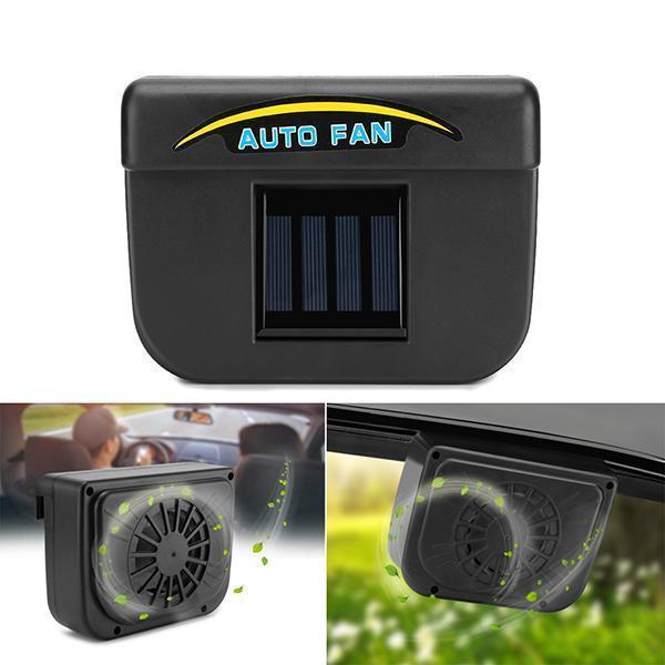 Solar Powered Car Window Windshield Auto Air Vent Cooling Fan-Car Accessories-Romancci.com
