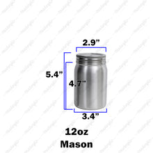 Load image into Gallery viewer, 12oz Mason Jar