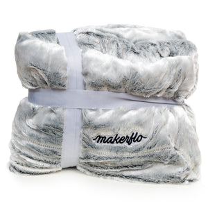 "MakerFlo Velvet Sherpa Blanket 50""x60"" - 200000 Flo Points"