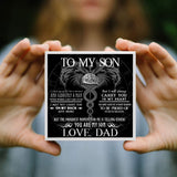 To My Viking Son From Dad Ring Gift - Message Card - TQR0010