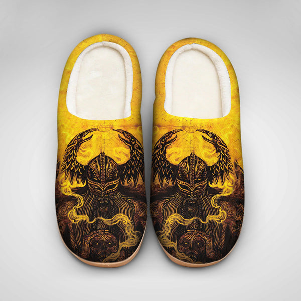 Yellow Viking Slippers - TCSL0026