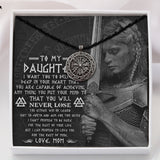 To My Viking Daughter From Viking Mom - Viking Necklace - Message Card - TQNL0116