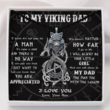 To My Viking Dad From Son - Viking Necklace - Message Card - TQNL0083