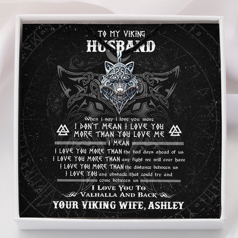 To My Viking Husband - Viking Necklace - Message Card - TQNL0076