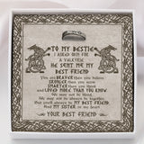 To My Viking Bestie - Ring Gift - Message Card - TQR0019