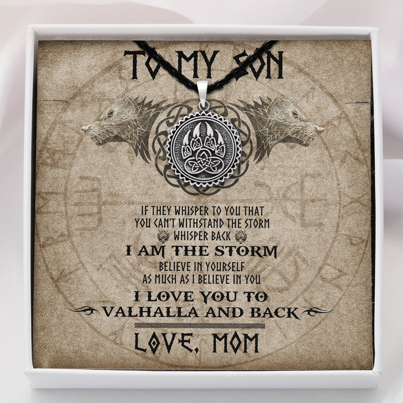 To My Son From Mom - Viking Necklace - Message Card - TQNL0092