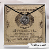 To My Dearest Friend - Viking Necklace - Message Card - TQNL0096