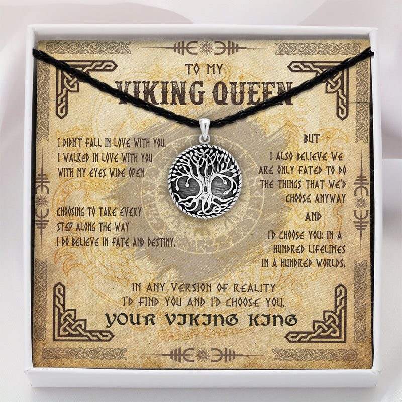 To My Viking Queen - Viking Necklace - Message Card - TQNL0087