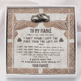 To My Viking Fiancé- Ring Gift - Message Card - TQR0021