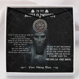 To My Shieldmaiden Viking Necklace - Message Card - TQNL0104
