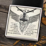 To My Viking Dad From Son - Viking Necklace - Message Card - TQNL0106