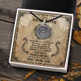 To My Viking Queen - Viking Necklace - Message Card - TQNL0074
