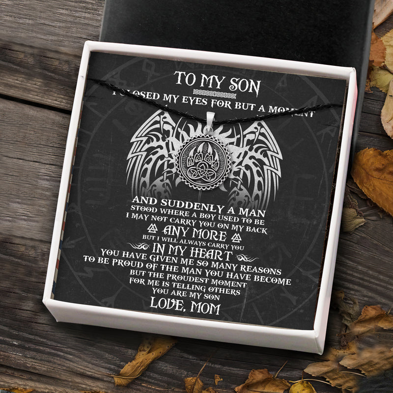 To My Viking Son From Mom - Viking Necklace - Message Card - TQNL0086