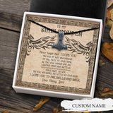 To My Shieldmaiden Viking Necklace - Message Card - TQNL0103