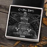 To My Viking Dad From Son - Viking Necklace - Message Card - TQNL0108