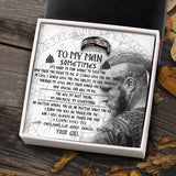 To My Viking Man - Ring Gift  - Message Card - TQR0016