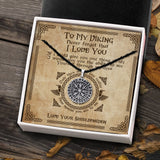 To My Viking - Viking Necklace - Message Card - TQNL0071