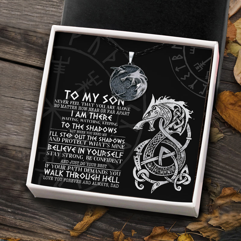 To My Viking Son From Dad - Viking Necklace - Message Card - TQNL0079