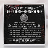 To My Future Husband - Viking Necklace - Message Card - TQNL0064