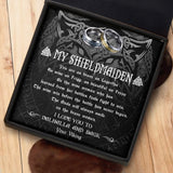 To My Viking Shieldmaiden - Ring Gift - Message Card - TQR0007