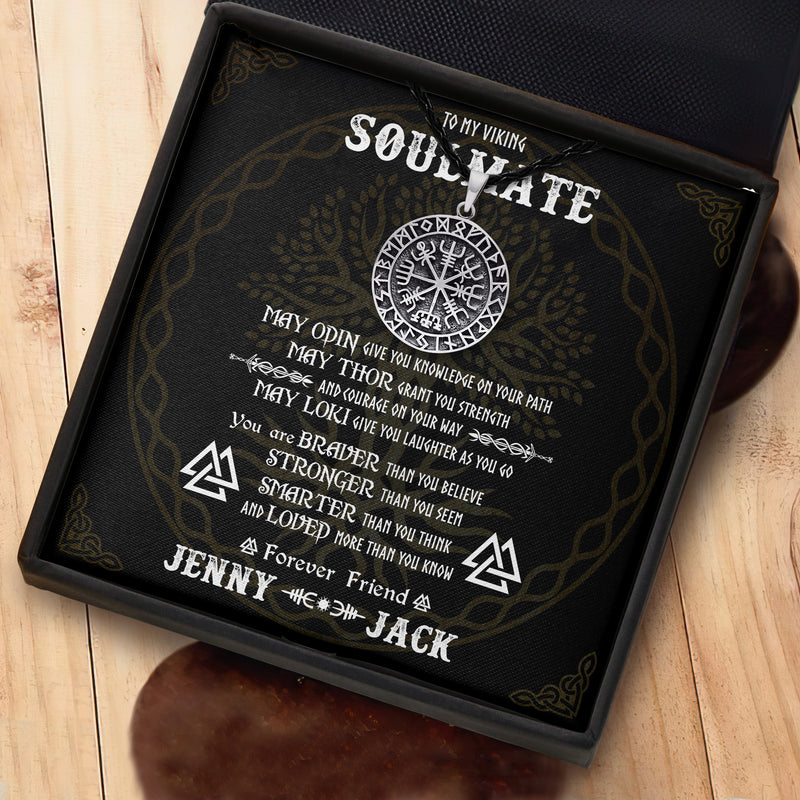 To My Soulmate - Viking Necklace - Message Card - TQNL0072
